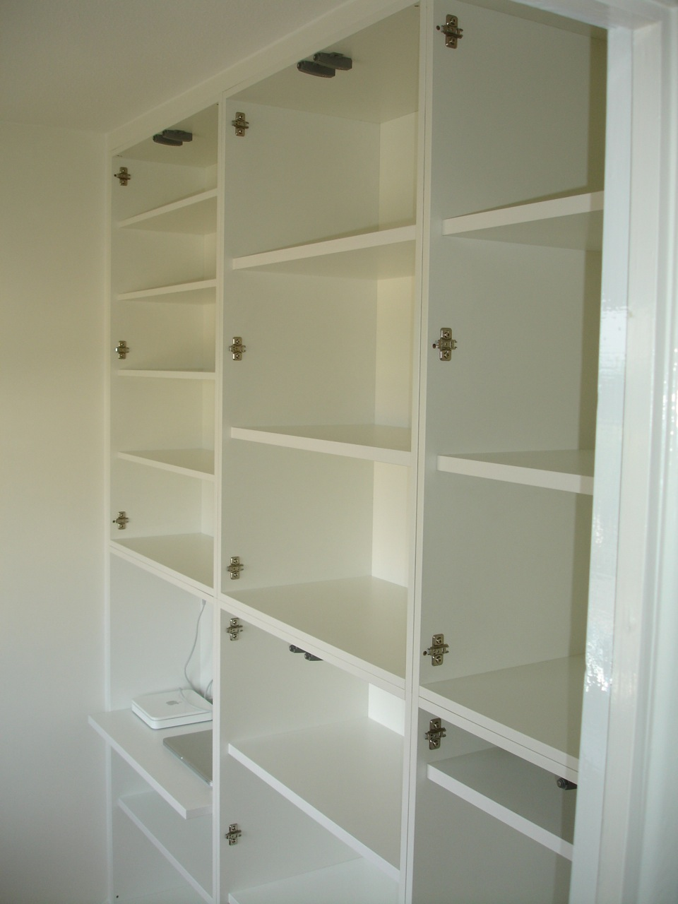 Home Office made with custom cabinets  DIY Wardrobes